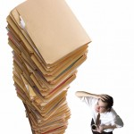 Overwhelming stack of files
